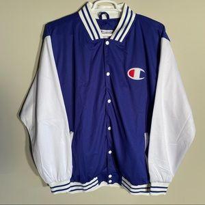 Champion Varsity Script Logo Baseball Jacket XLT
